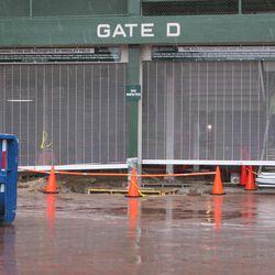 11:15 a.m. Work ongoing inside Gate D -