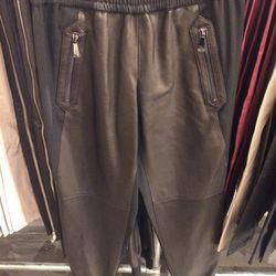 Leather pants, $199 (were $595)