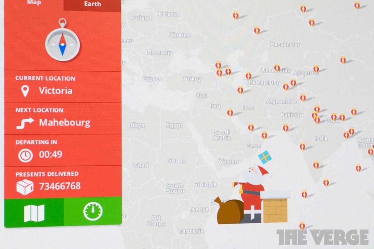 google santa tracker stock 1020