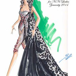 A Gilbert Chagoury sketch for a NeNe Leakes' costume in Zumanity.