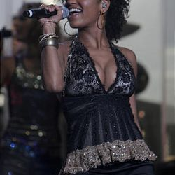 Syesha Mercado performs during the American Idols Live concert at the E Center in West Valley on Monday night.