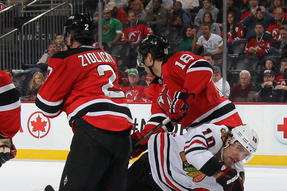 It's been a while since the Devils last played the Chicago Blackhawks.  This is from Spring 2012, I believe.