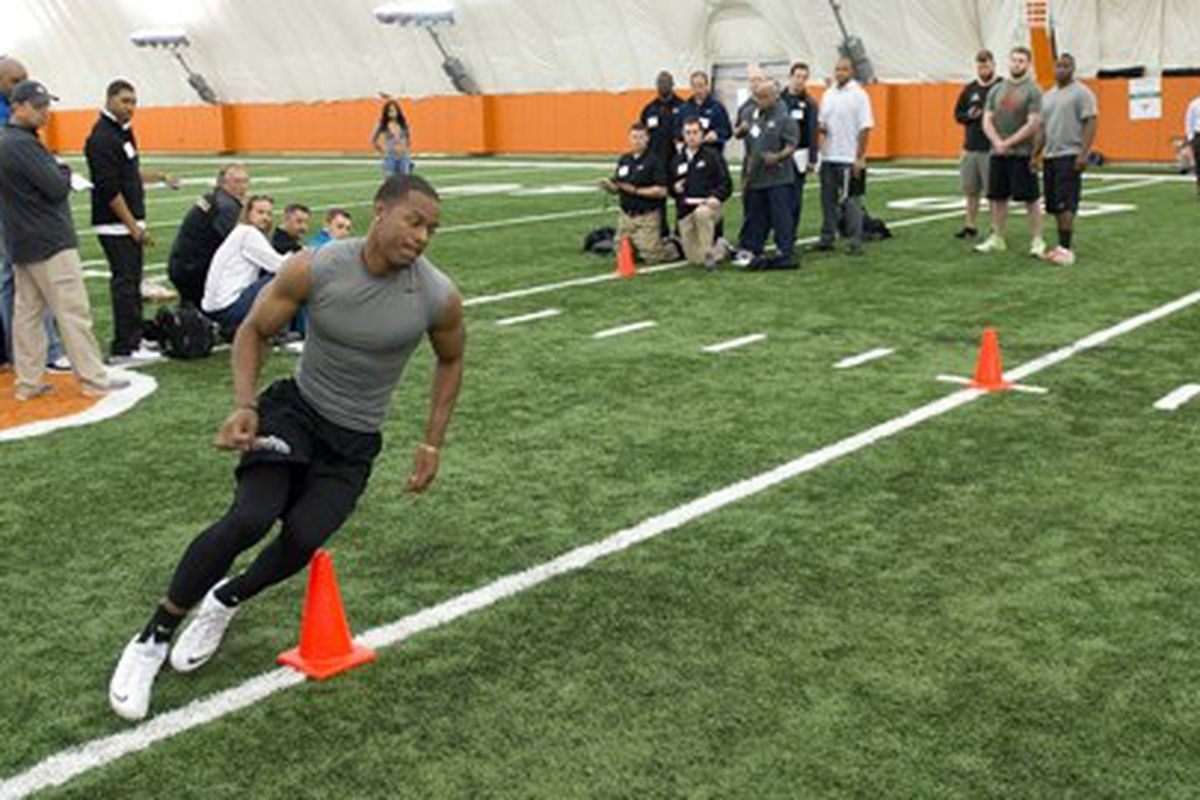 Carringtom Byndom at the 2014 Pro Timing Day