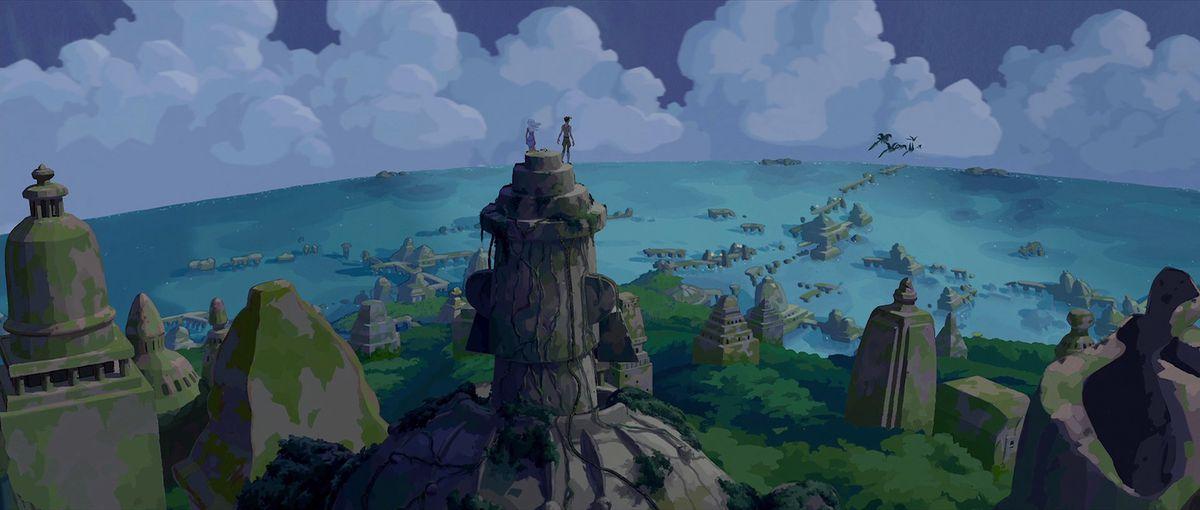 a panoramic view of atlantis