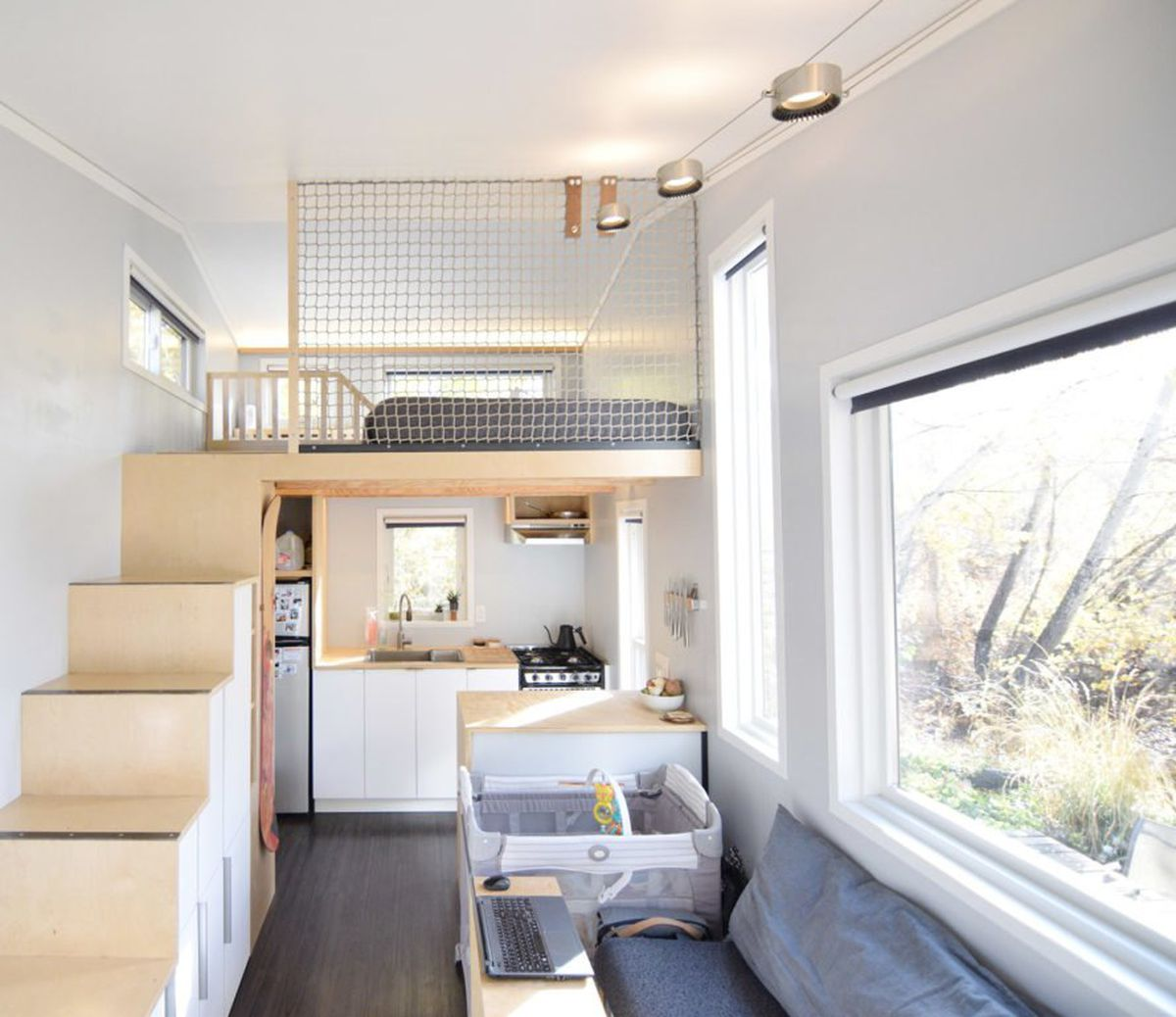 Tiny house makes room for outdoor gear—and a baby - Curbed