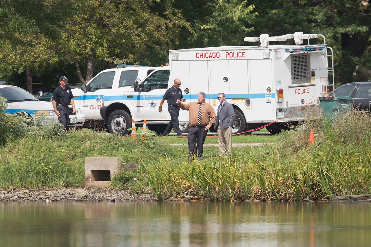 Police search the Garfield Park Lagoon over Labor Day weekend four years ago, after the remains of 2-year-old Kyrian Knox were discovered. Kamel Harris, charged with killing and dismembering the boy, was acquitted this spring.