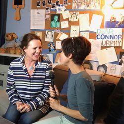 "Vicki Reece of Joy of Mom   with ""Dear Evan Hansen"" star Jennifer Laura Thompson.   Food We Love"