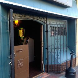 There's still no prominent signage, but here's what the front door looks like, for reference.