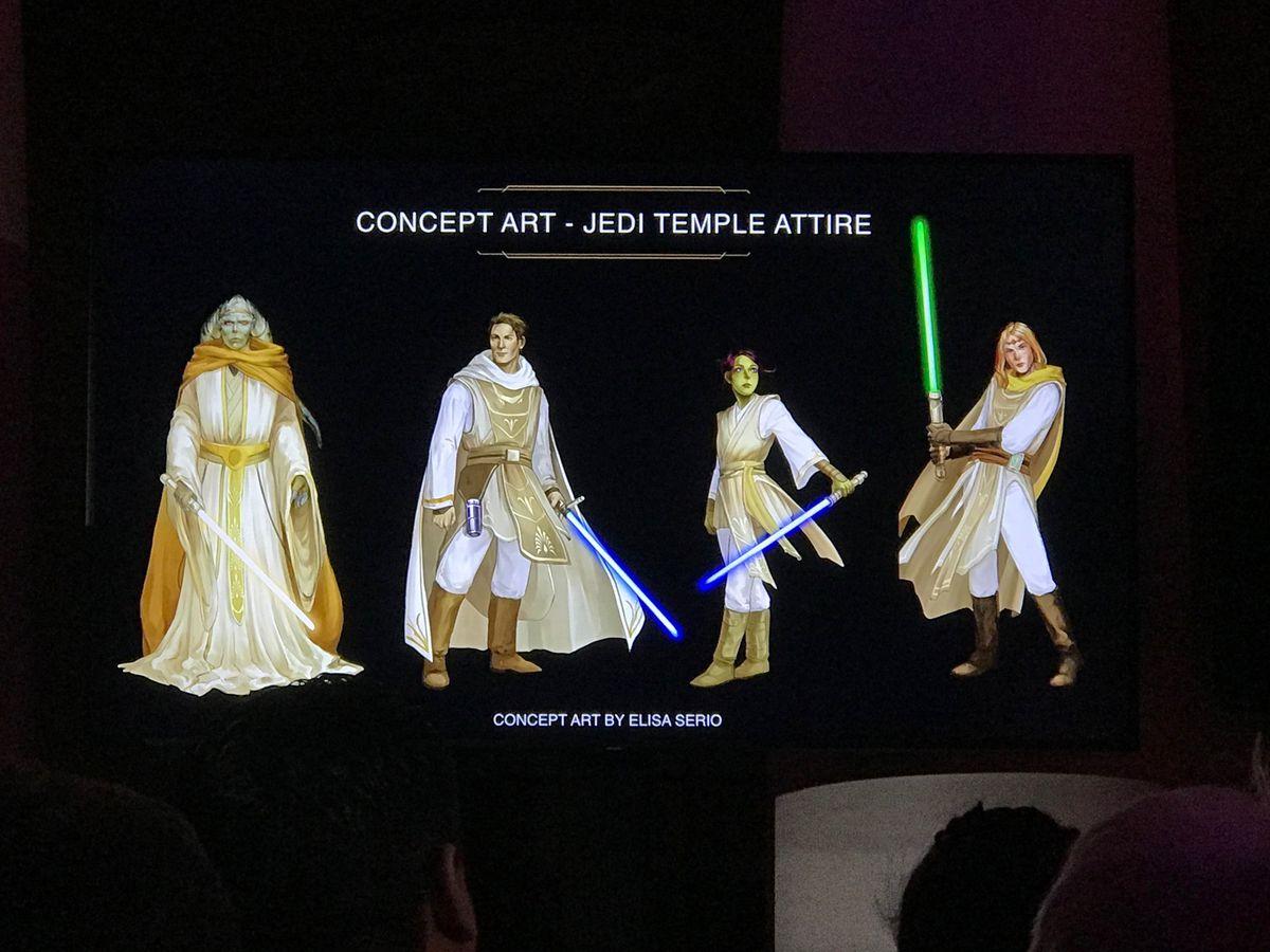 Star Wars: The High Republic concept art by Elisa Serio of Jedi temple attire