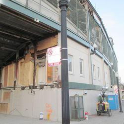 Fri 1/1: remaining offices, main gate area, boarded off -