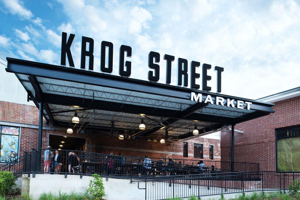 Exterior shot of Krog Street Market.