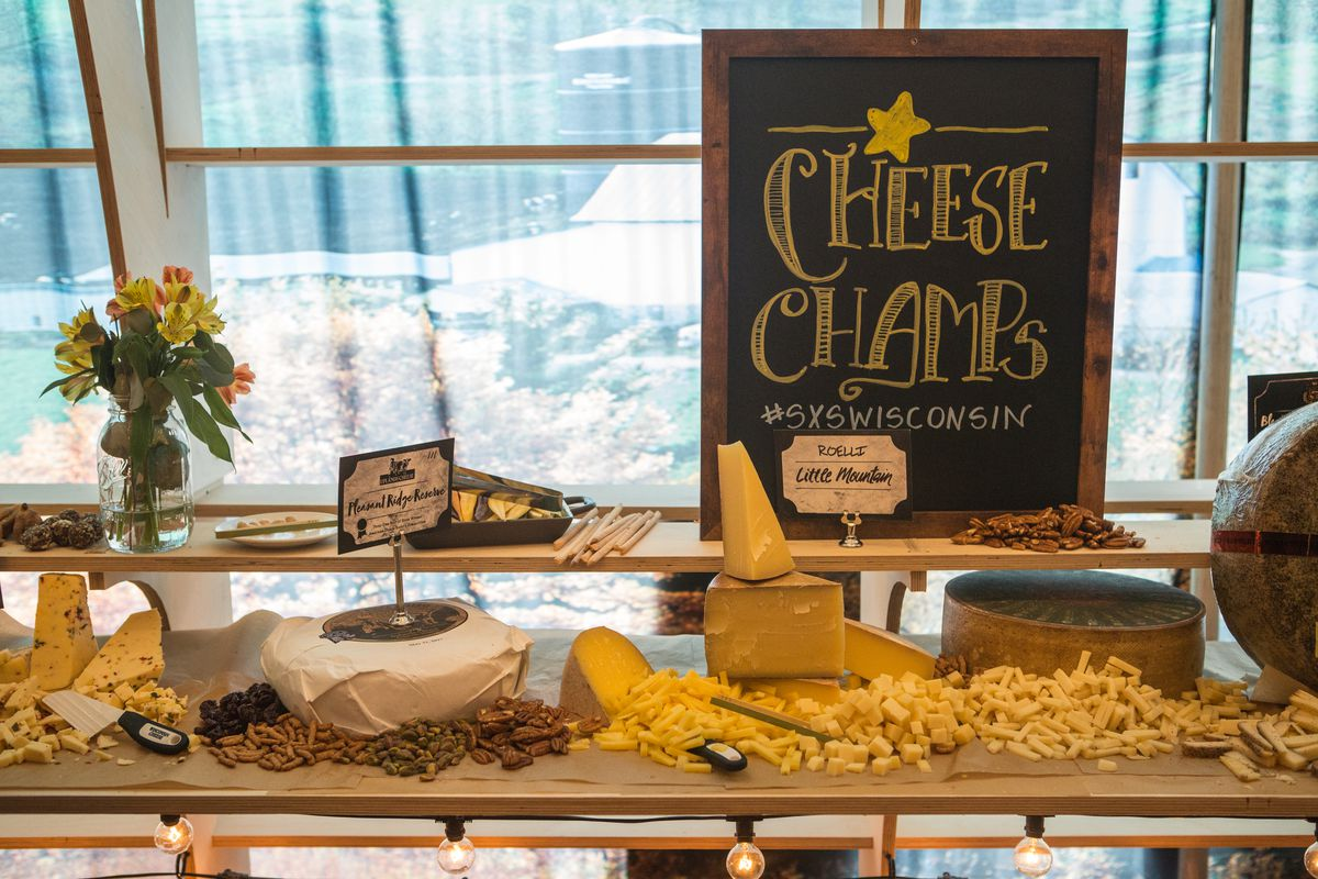 The giant cheese board at SXSW