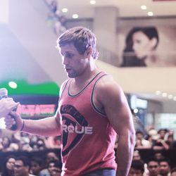 Urijah Faber addressing the crowd in Manila