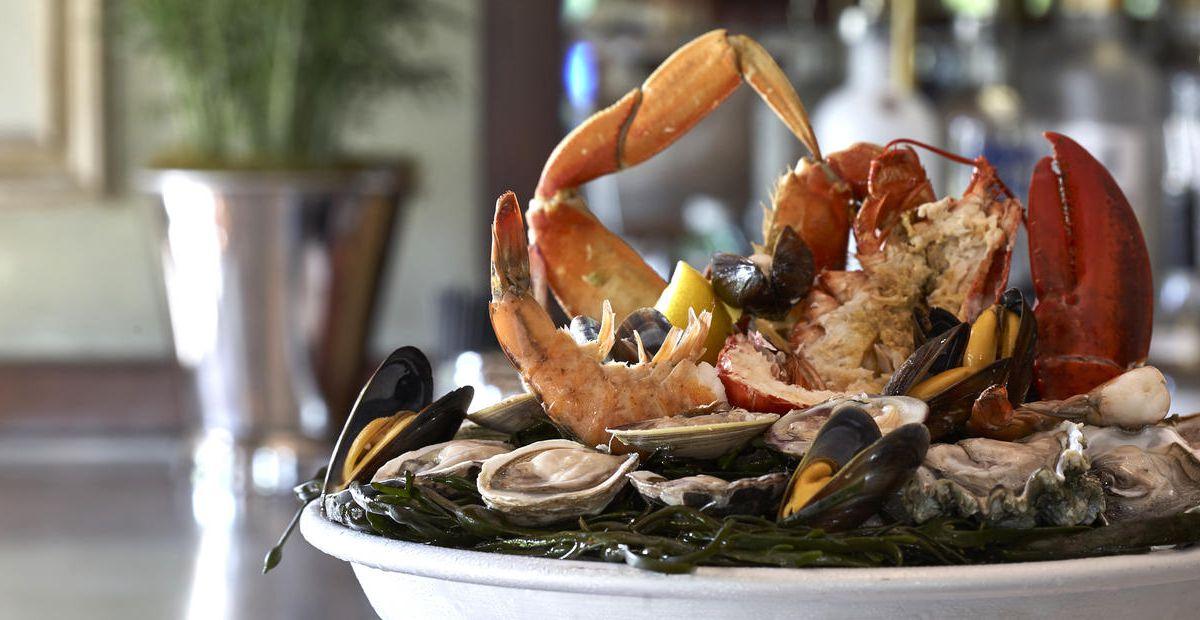Seafood platter at Bouchon Bistro