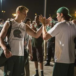 """Alexander Ludwig (left) and Matthew Daddario (right) in """"When the Game Stands Tall."""""""