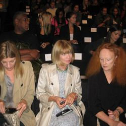 Anna Wintour and the Vogue contingent at the DVF show