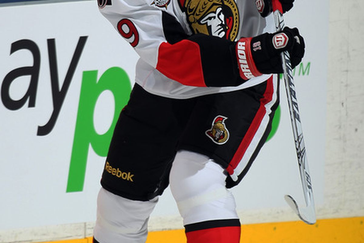 Something must be slowing Jason Spezza down, because the Ottawa Senators' top centre hasn't had a point in six straight games.