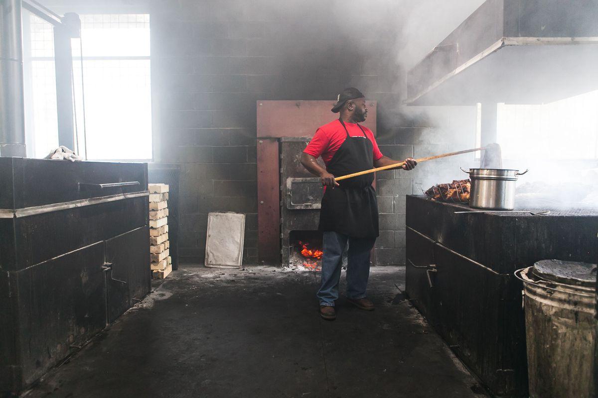 Rodney Scott at Rodney Scott's BBQ
