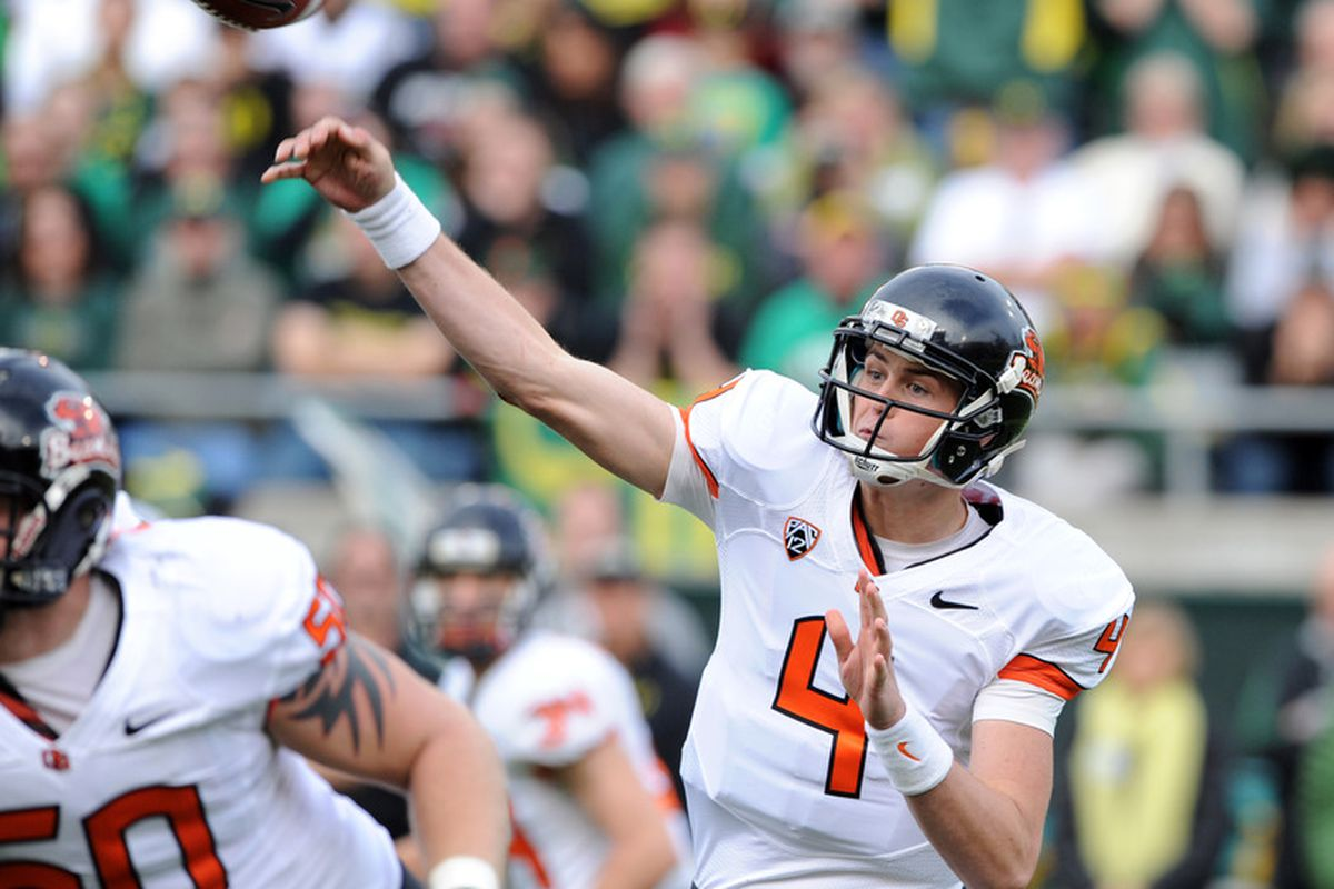 After a rough freshman campaign, Sean Mannion returns to power Oregon State in 2012.