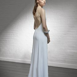 High neck backless dress, $595