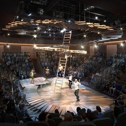 A theater in the new Steppenwolf. | Adrian Smith + Gordon Gill (provided)