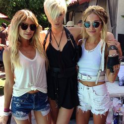 Models off duty spotted at the Guess? poolside BBQ.