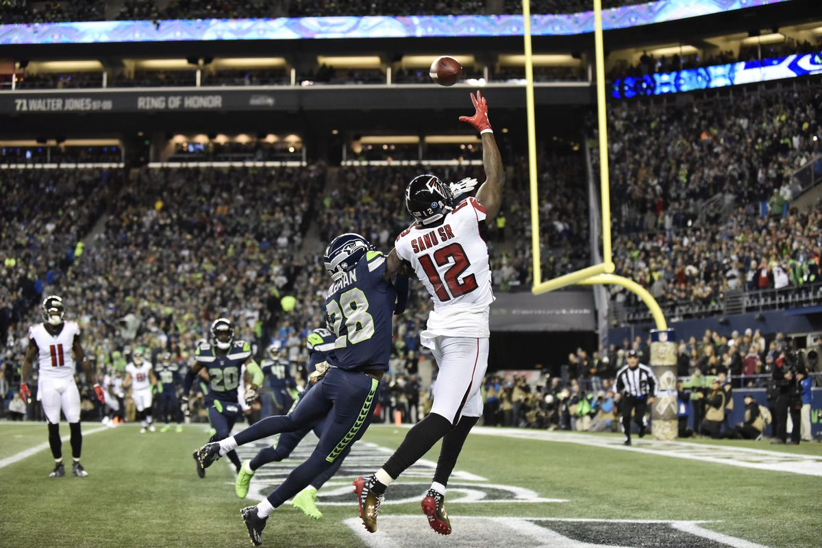 Image result for falcons win vs seahawks