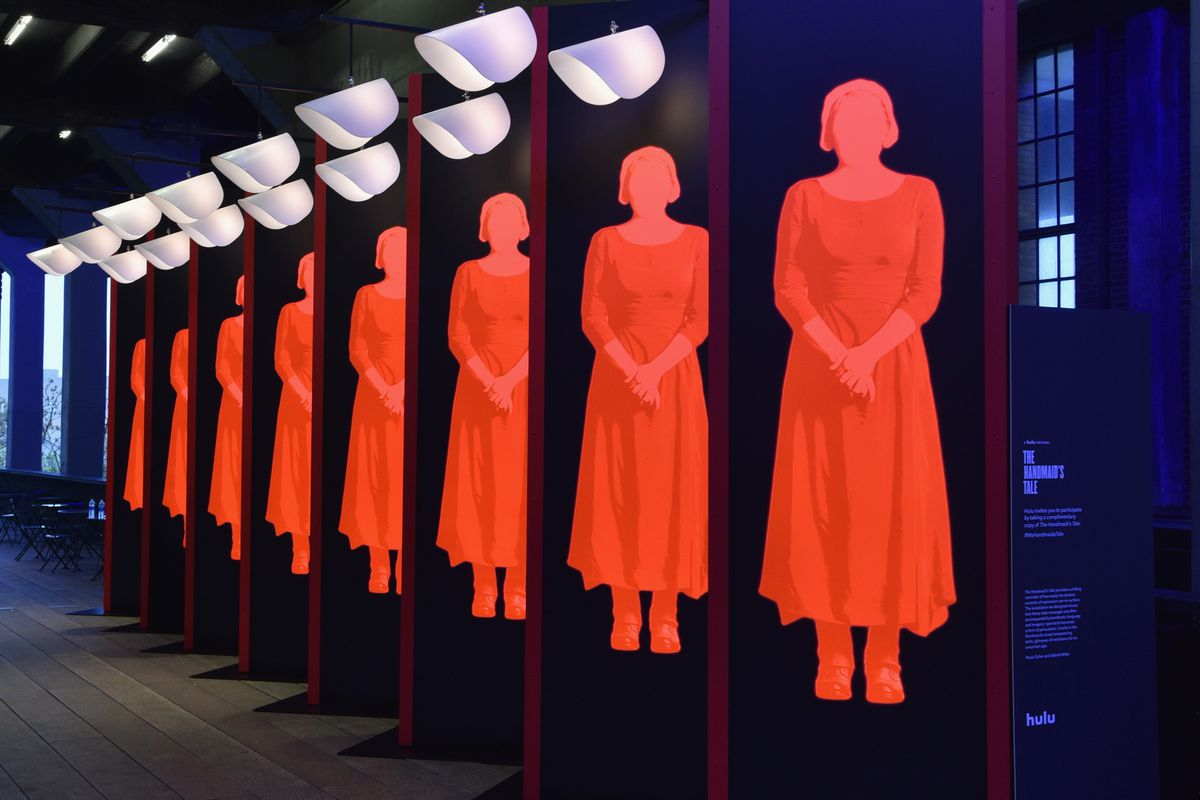 Art Installation And Book Giveaway Celebrating Hulu's 'The Handmaid's Tale' Opens On The High Line In New York City