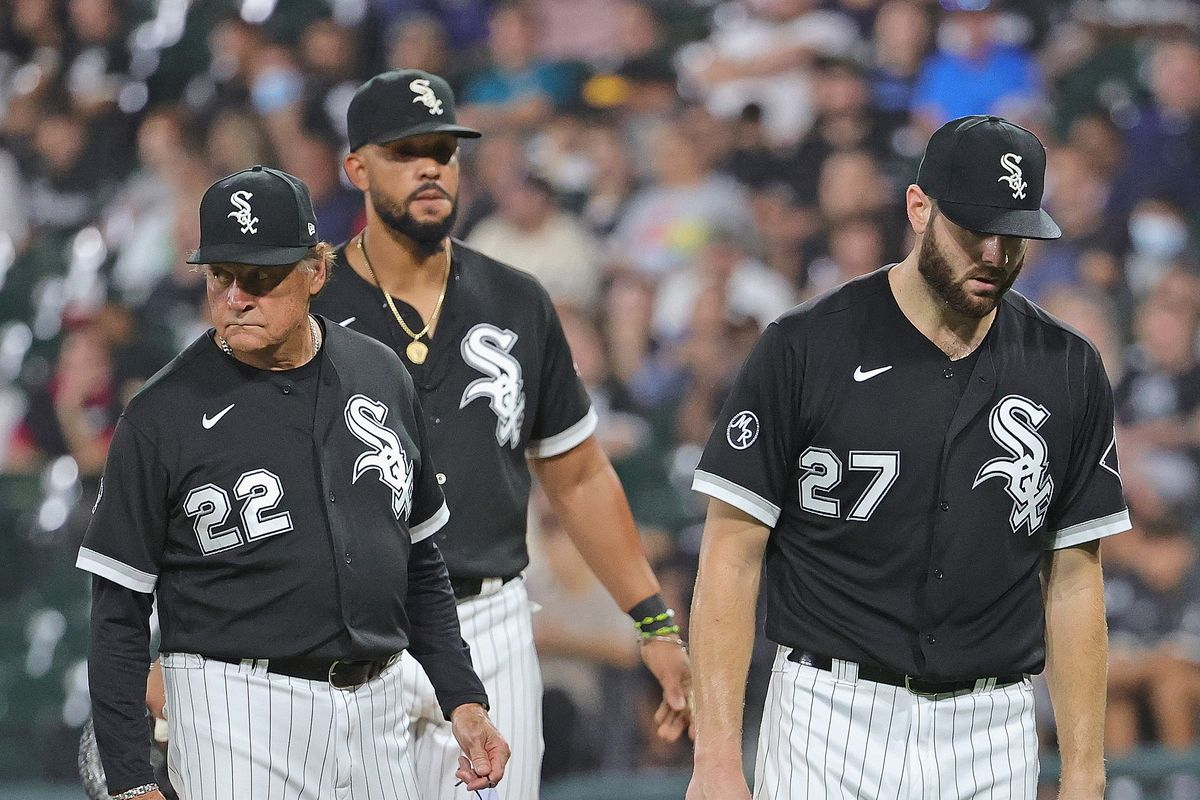 White Sox starter Lucas Giolito leaves Tuesday's game in the fifth inning with a tight hamstring.
