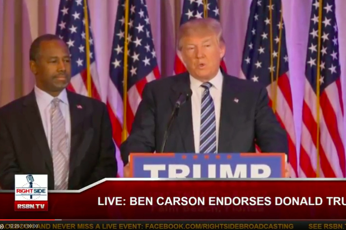 Ben Carson endorsed Donald Trump on Friday in Florida.