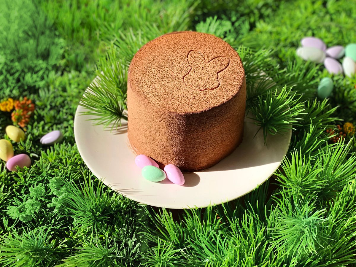 Unconventional Diner pastry chef Ana Deshaies's Easter chocolate cake.