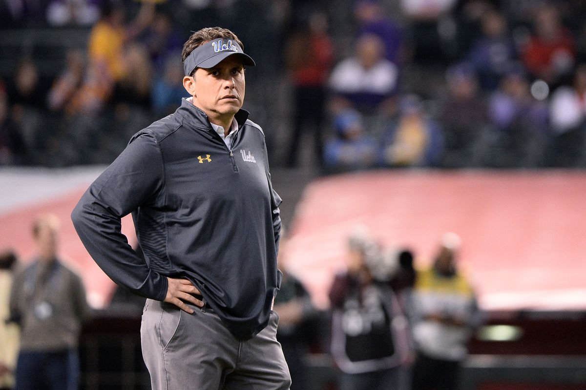 Former UCLA QB Coach, Offensive Coordinator and Head Coach Jedd Fisch during the Cactus Bowl against Kansas State