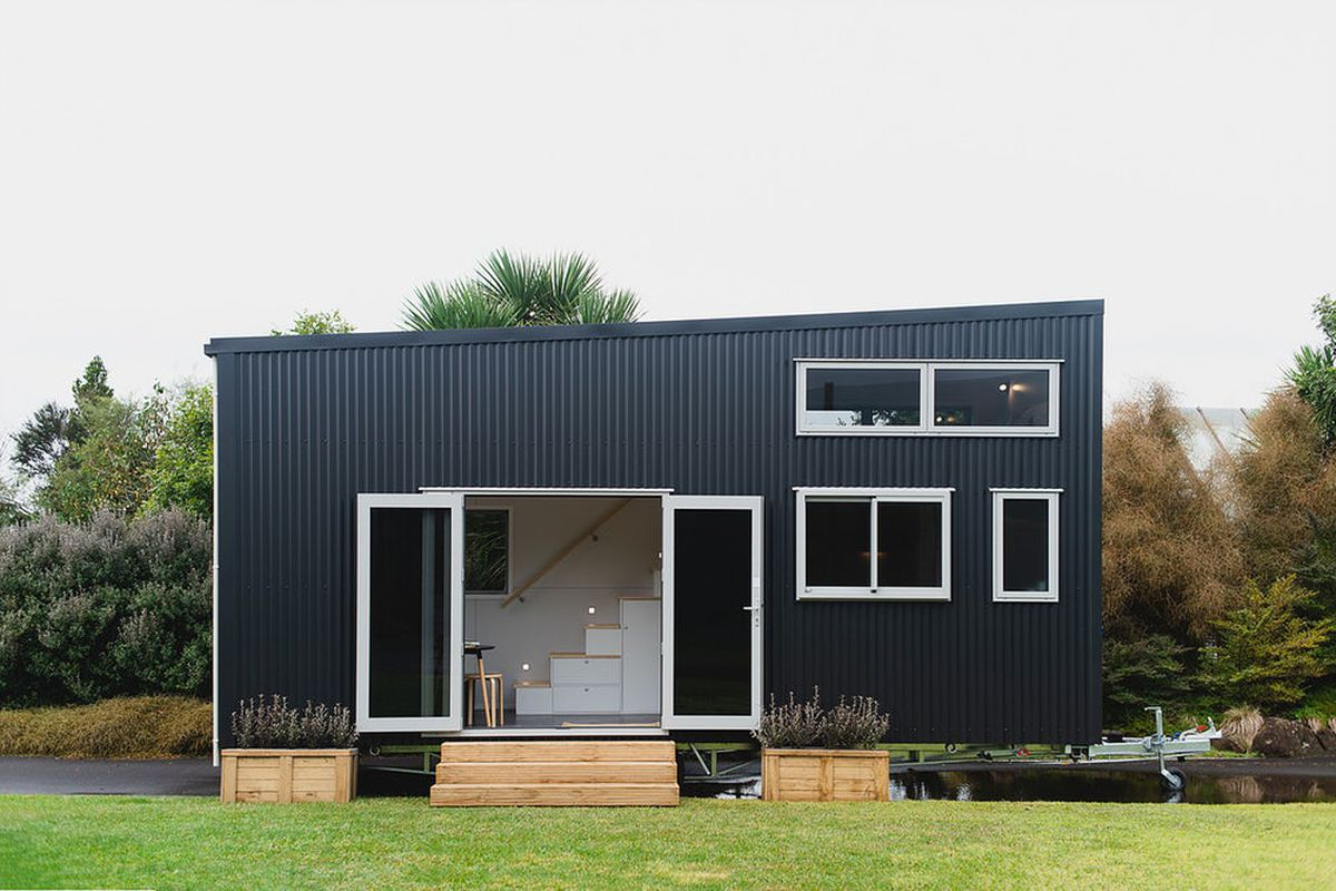 Tiny House Features A Spacious Living Room