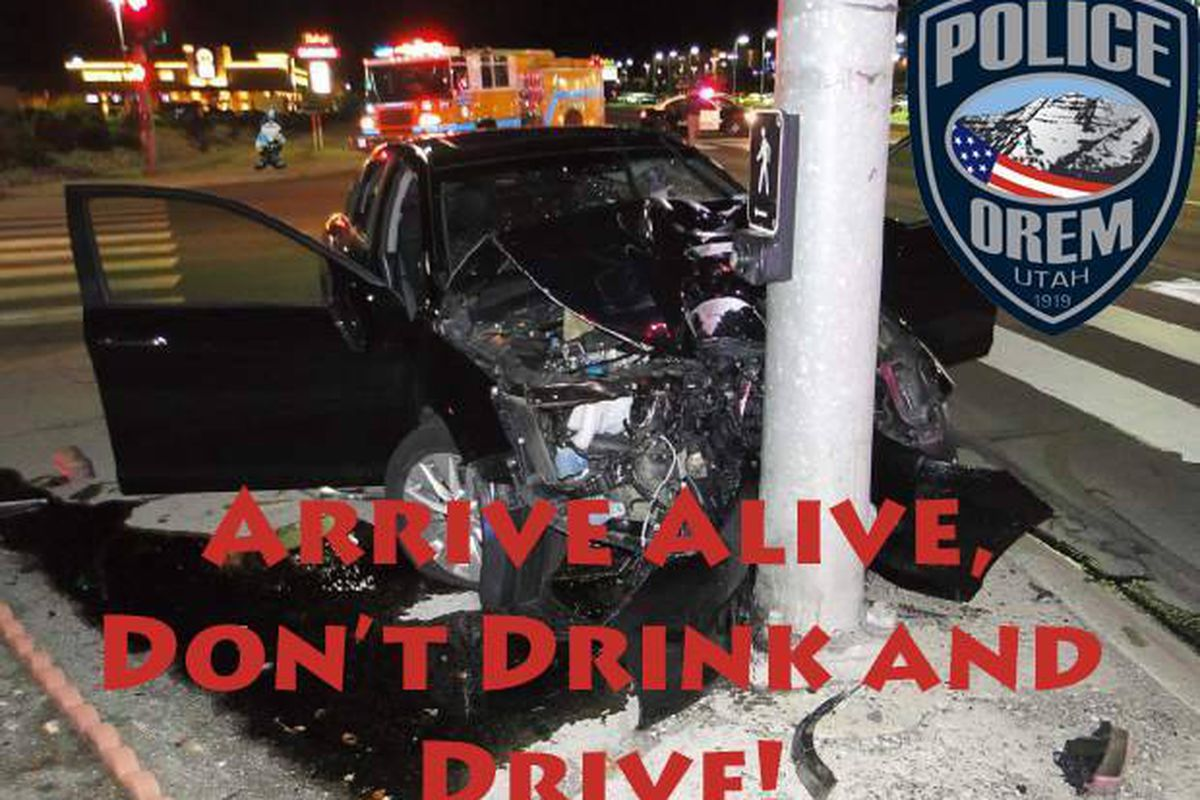 In a humorous Facebook post announcing a few things New Year's revelers shouldn't do, the Orem Police Department emphasized one thing they should do: Have a designated driver.