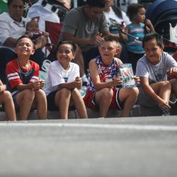 Children watch during the Grand Parade in Provo on Monday, July 5, 2021.