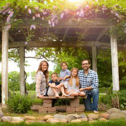 Emily Jones-Sanchez is photographed with her husband, Donovan, and children, Lizzie, John and Emerson.