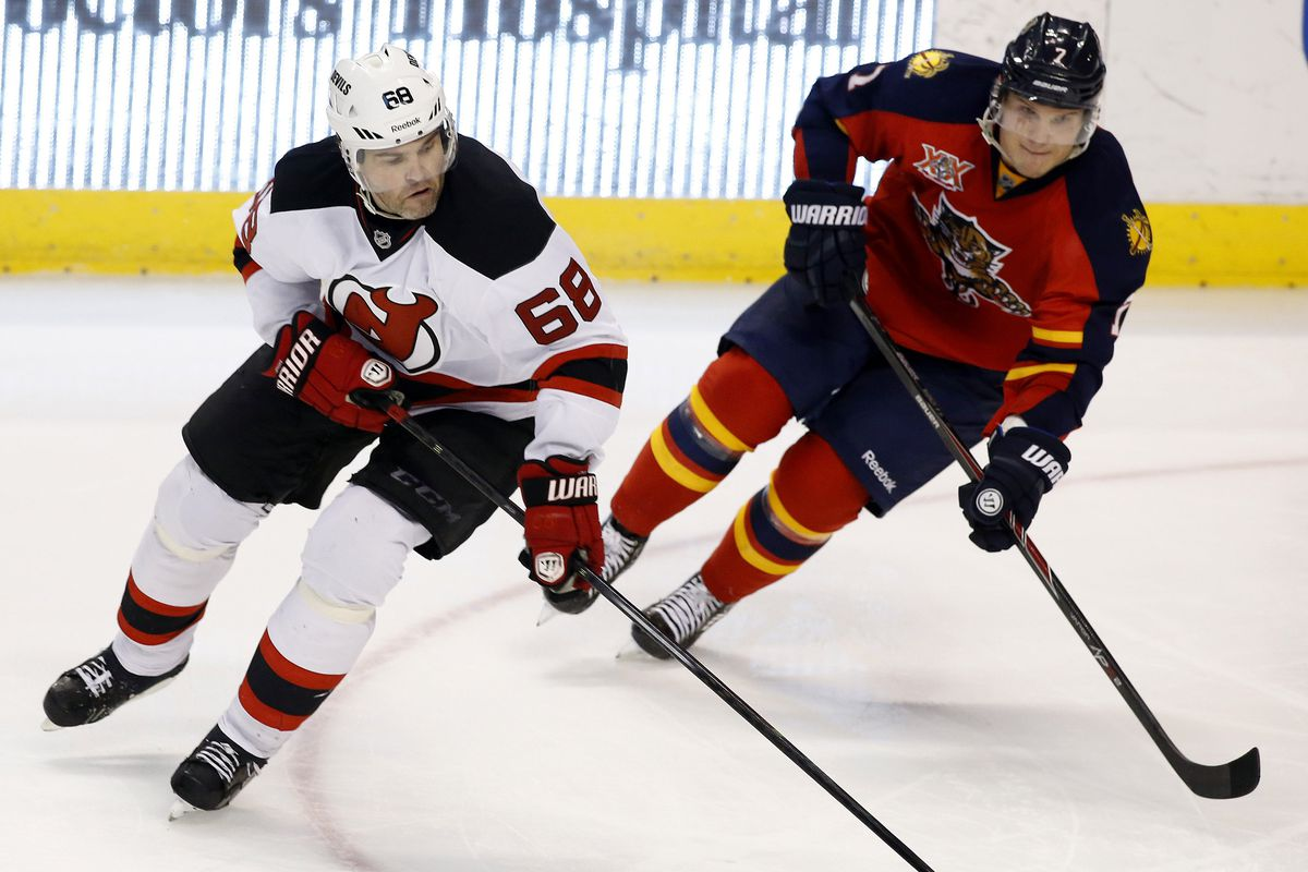It's like Christmas morning every game Jagr plays as a Panther