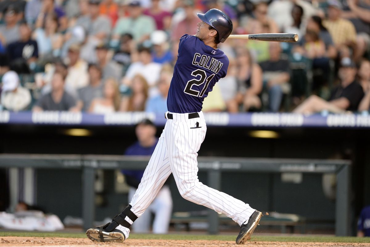Tyler Colvin hit a pait of home runs in the Rockies' 8-3 win over the Nationals.