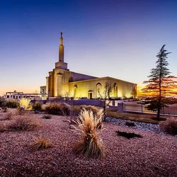 Scott Jarvie is on a mission to capture and compile pictures of every LDS temple in the United States. The Albuquerque New Mexico Temple is pictured here.