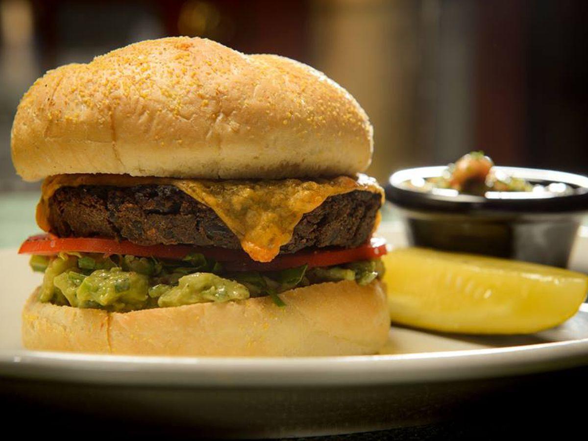 The black bean burger at Liberty's Kitchen