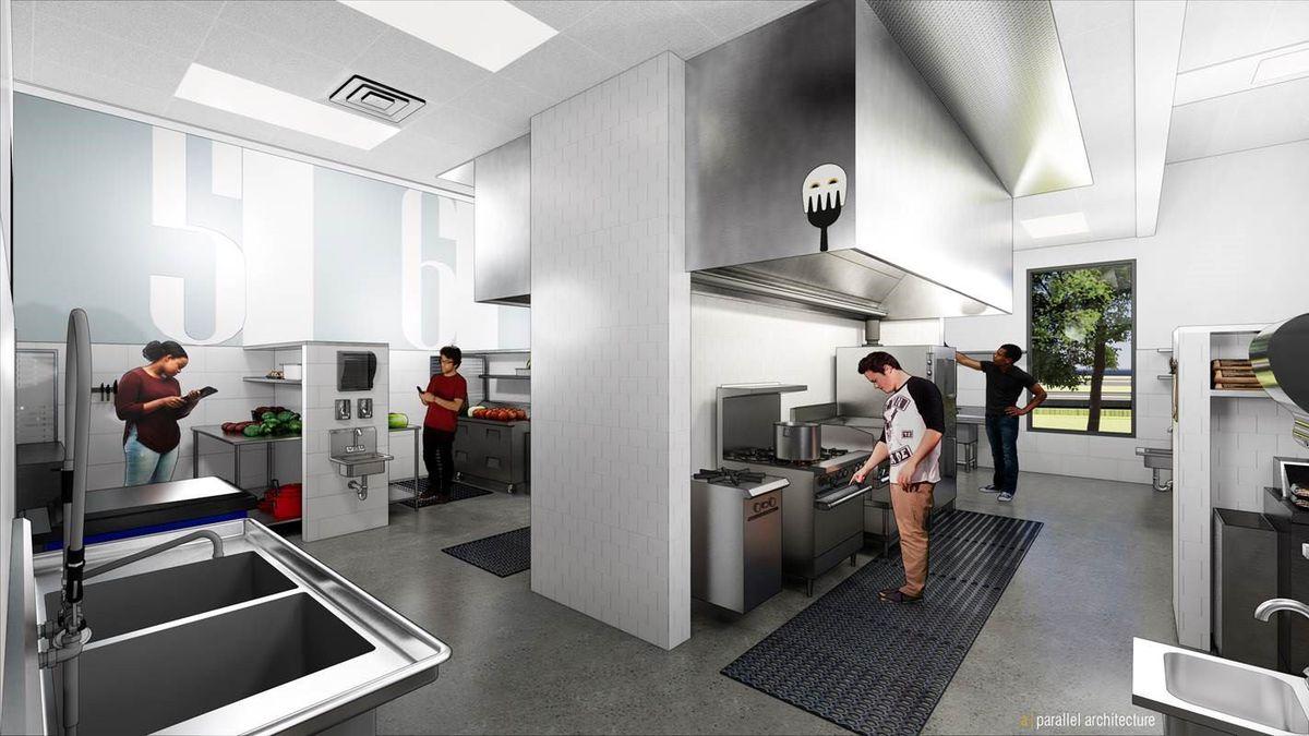 Rendering of Ghostline Kitchens's space
