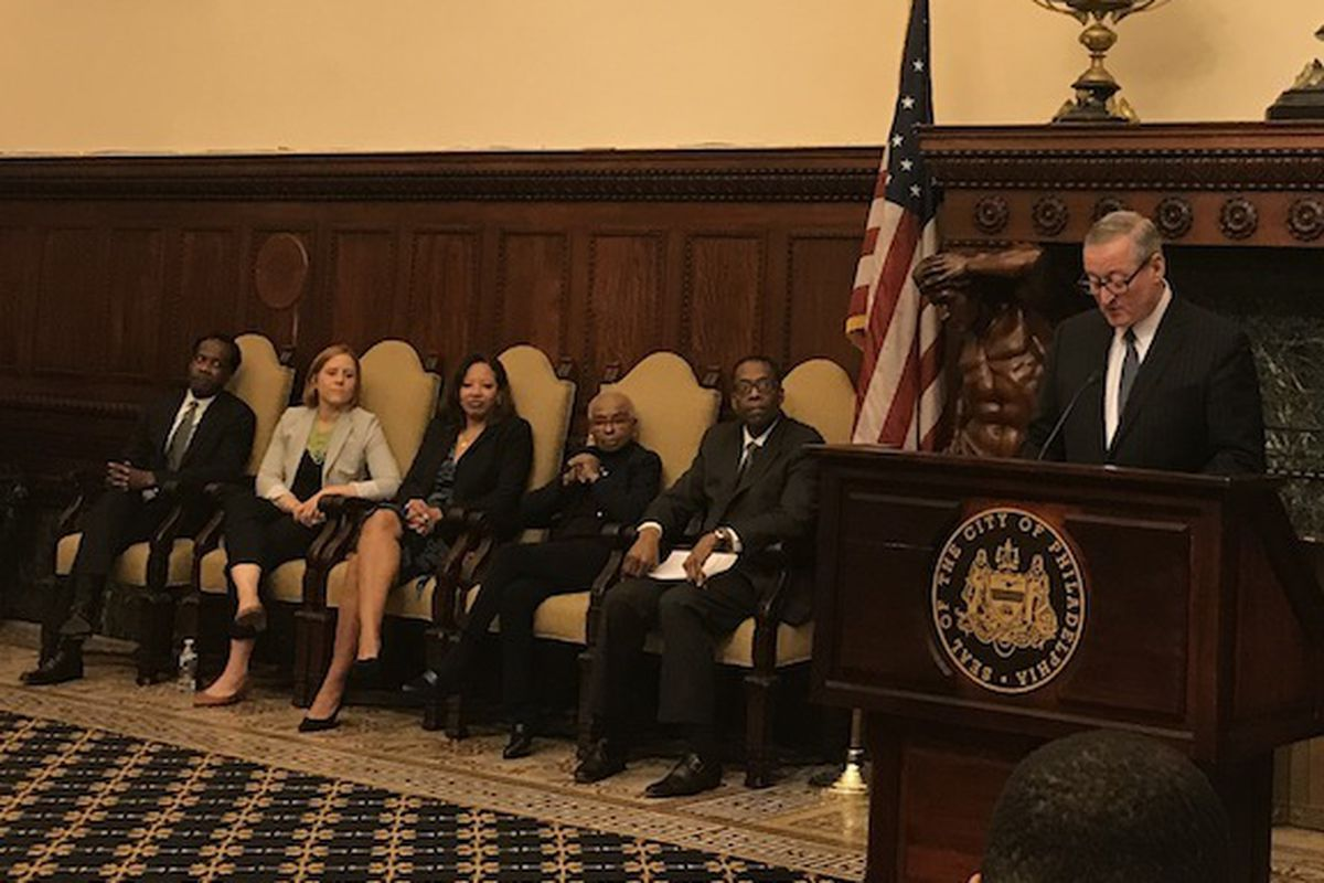 Mayor Kenney with new school board