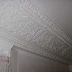 Authentic crown molding from the bank's early days