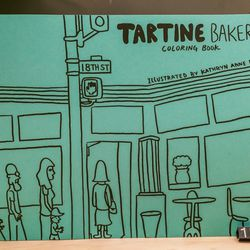 Tartine Bakery coloring book, $18