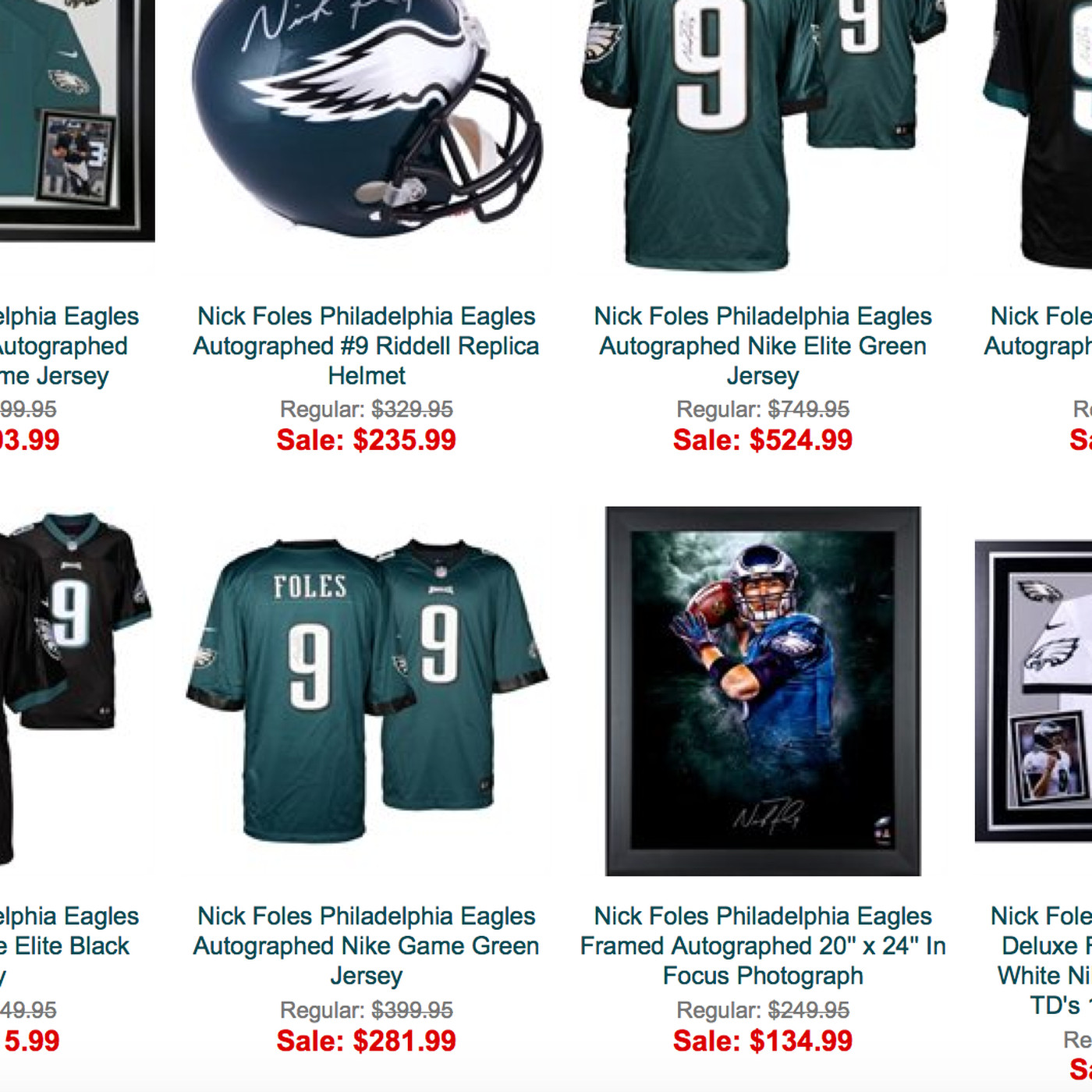 best sneakers dddb6 68495 Why is all Nick Foles autographed merchandise on sale at the ...