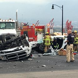 Unified police have confirmed a fatal crash happened about 11:30 a.m. Thursday.