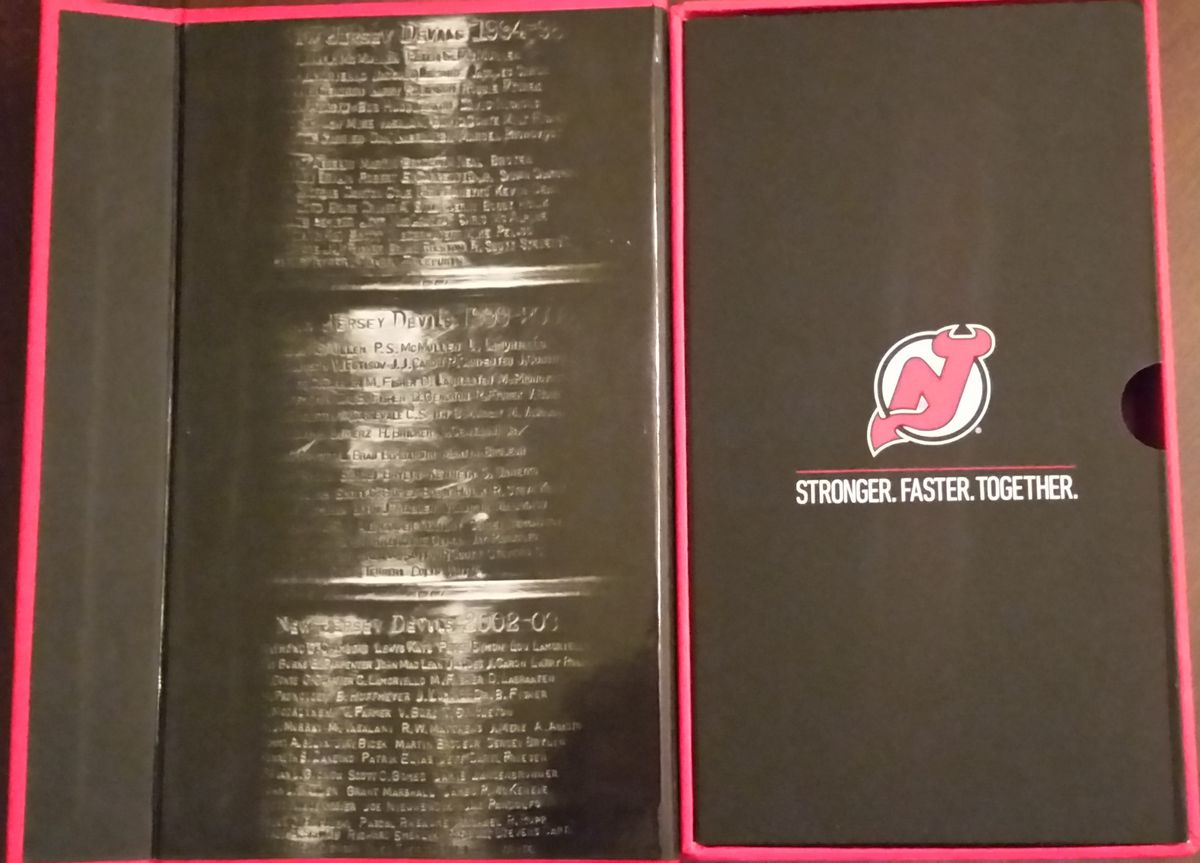 The inside flap of the 2017-18 Devils Season Ticket Box