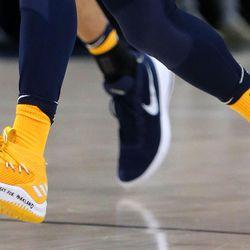 Donovan Mitchell rocks custom Kickstradomis sneakers to make