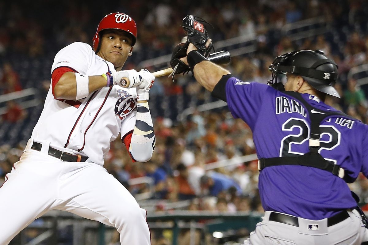 finest selection e5ced c117d Washington Nationals sweep doubleheader with Colorado ...