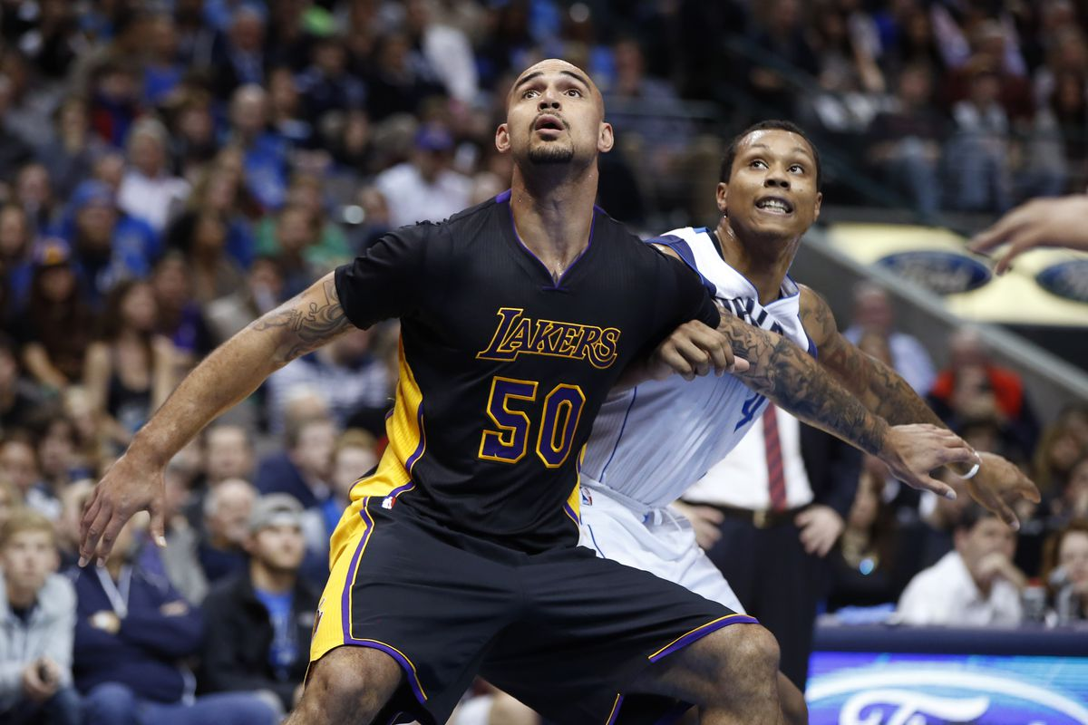 c5a60e4d8b2 Lakers free agency: Lakers exercising option on Robert Sacre's contract